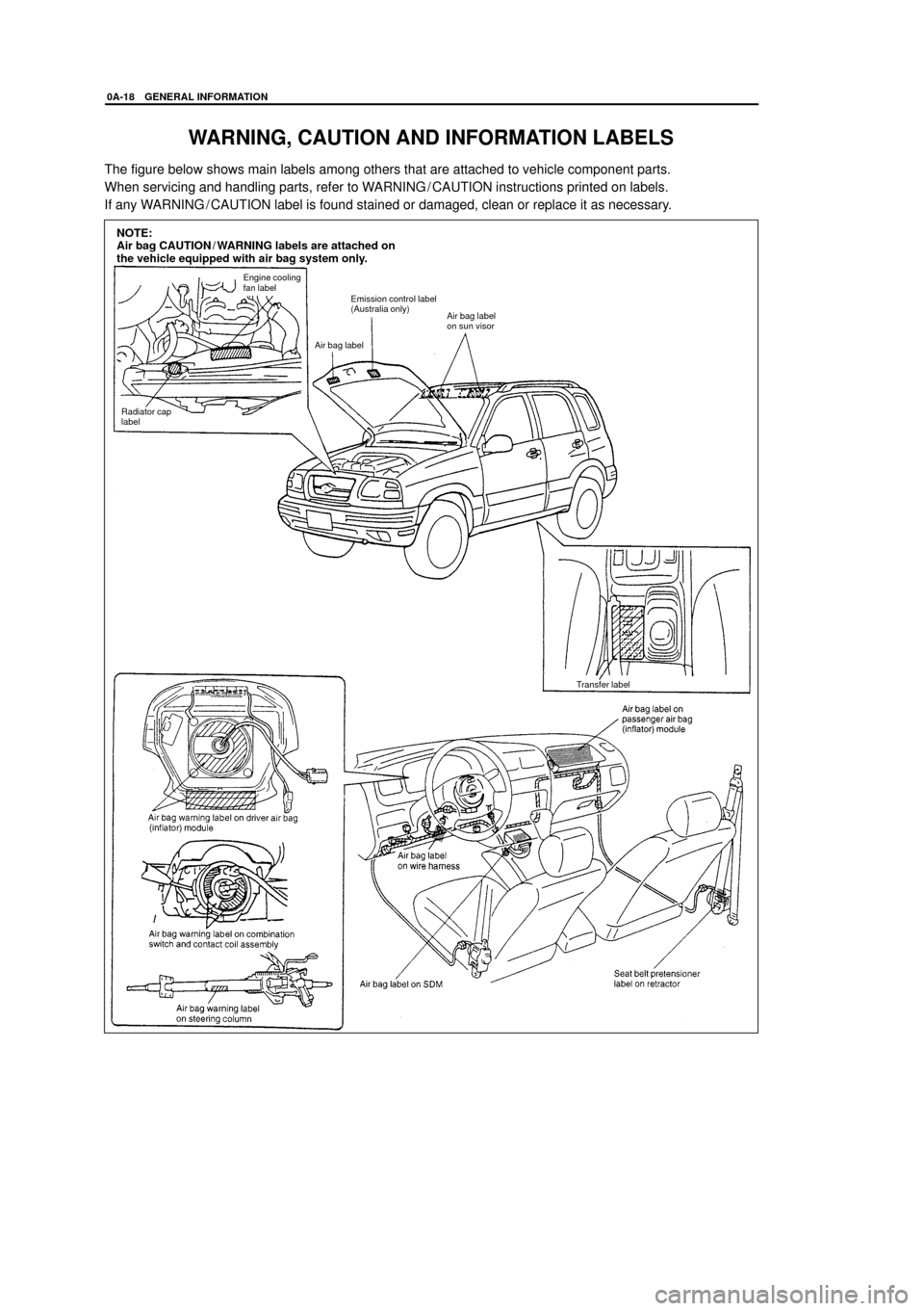 SUZUKI GRAND VITARA 2005 2.G Service Workshop Manual