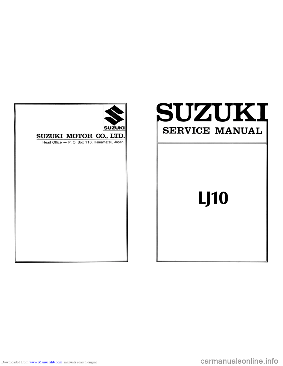 SUZUKI LJ10 1973 1.G Service Workshop Manual