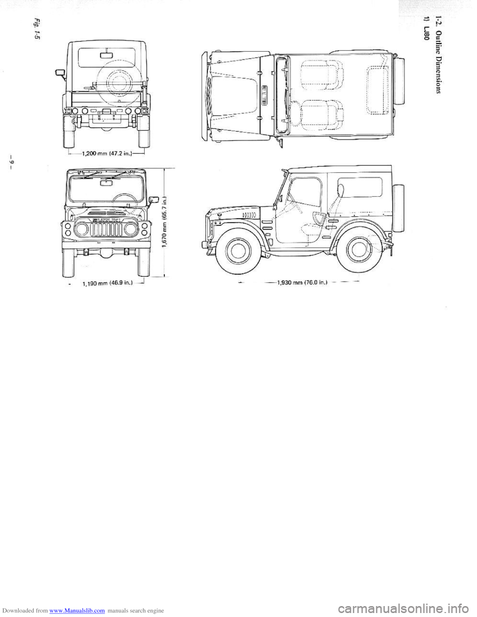SUZUKI LJ80 1975 1.G Service Workshop Manual