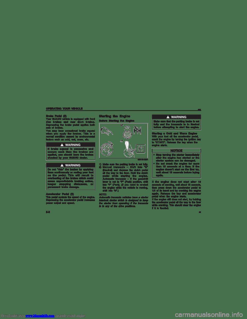 SUZUKI MARUTI 2005 1.G Owners Manual