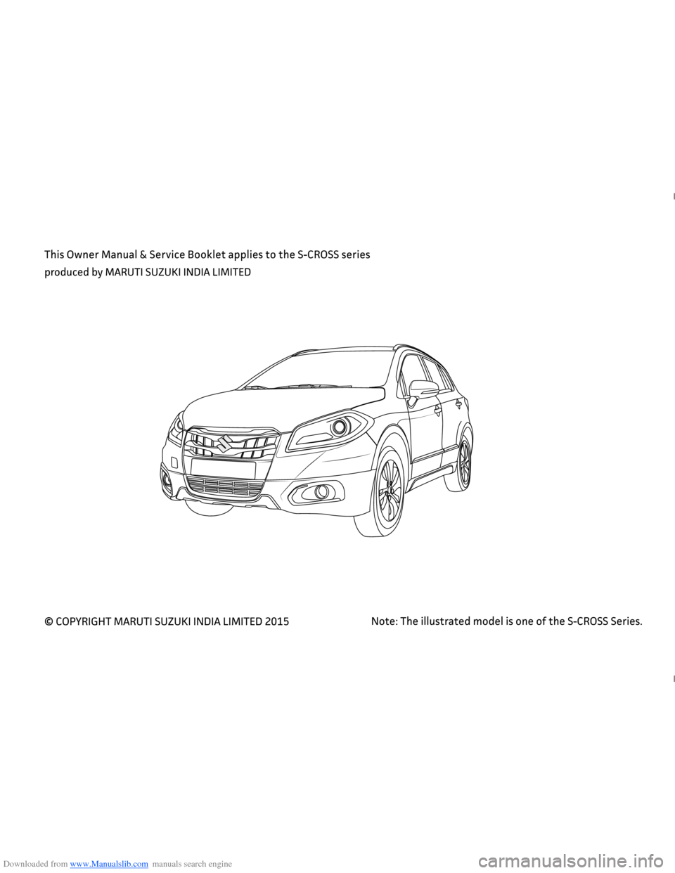 SUZUKI NEXA 2015 1.G Owners Manual