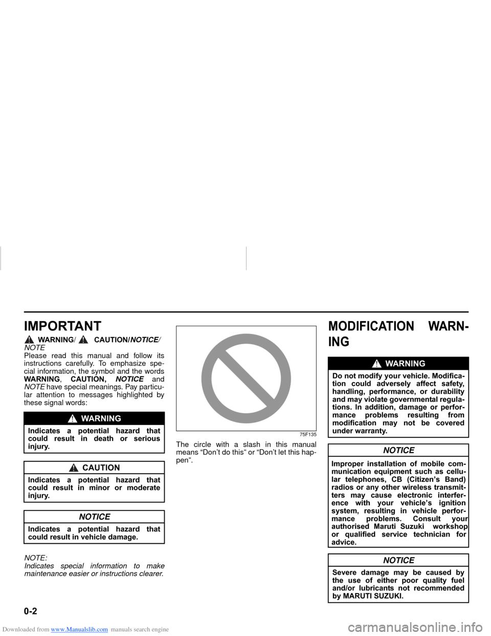 SUZUKI NEXA 2015 1.G Owners Manual