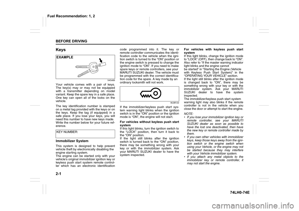 Service manual [Online Service Manuals 1988 Suzuki Swift
