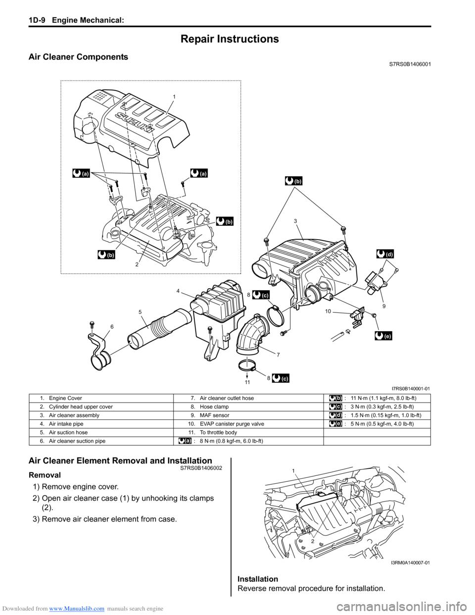 SUZUKI SWIFT 2006 2.G Service Workshop Manual