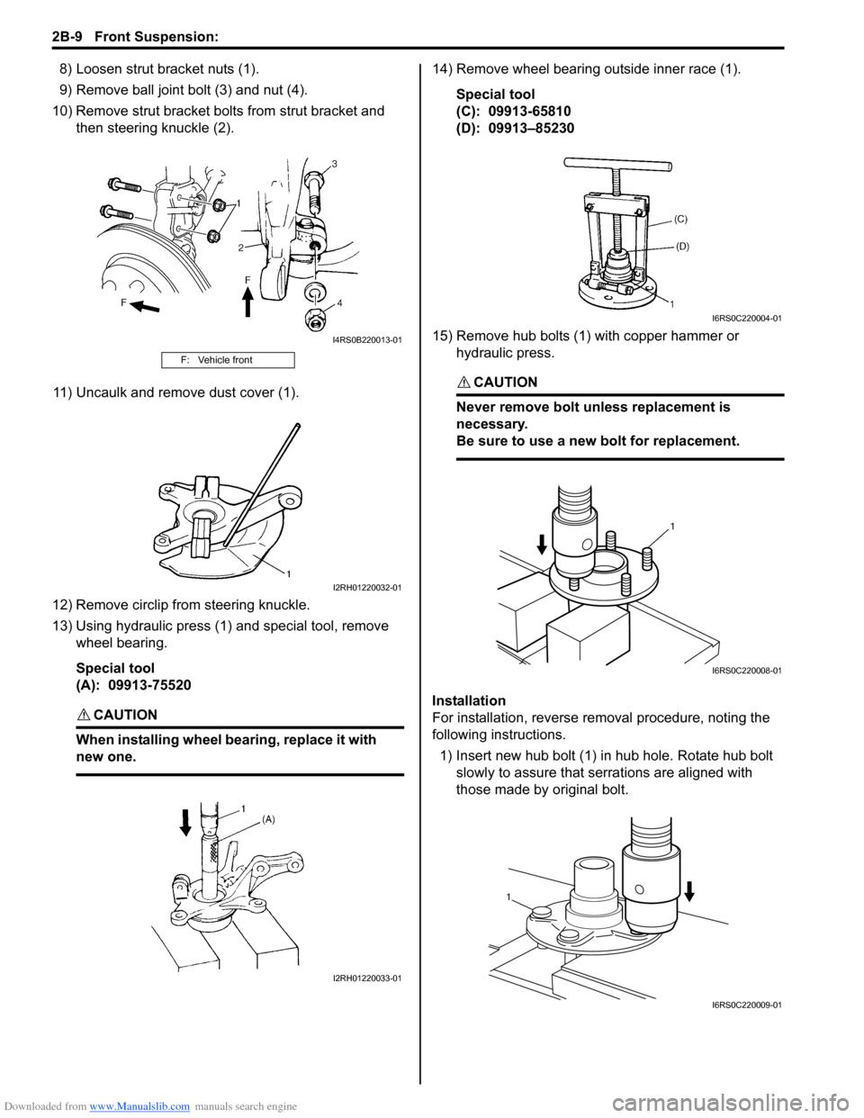 2b- SUZUKI SWIFT 2008 2.G Service User Guide (1496 Pages)