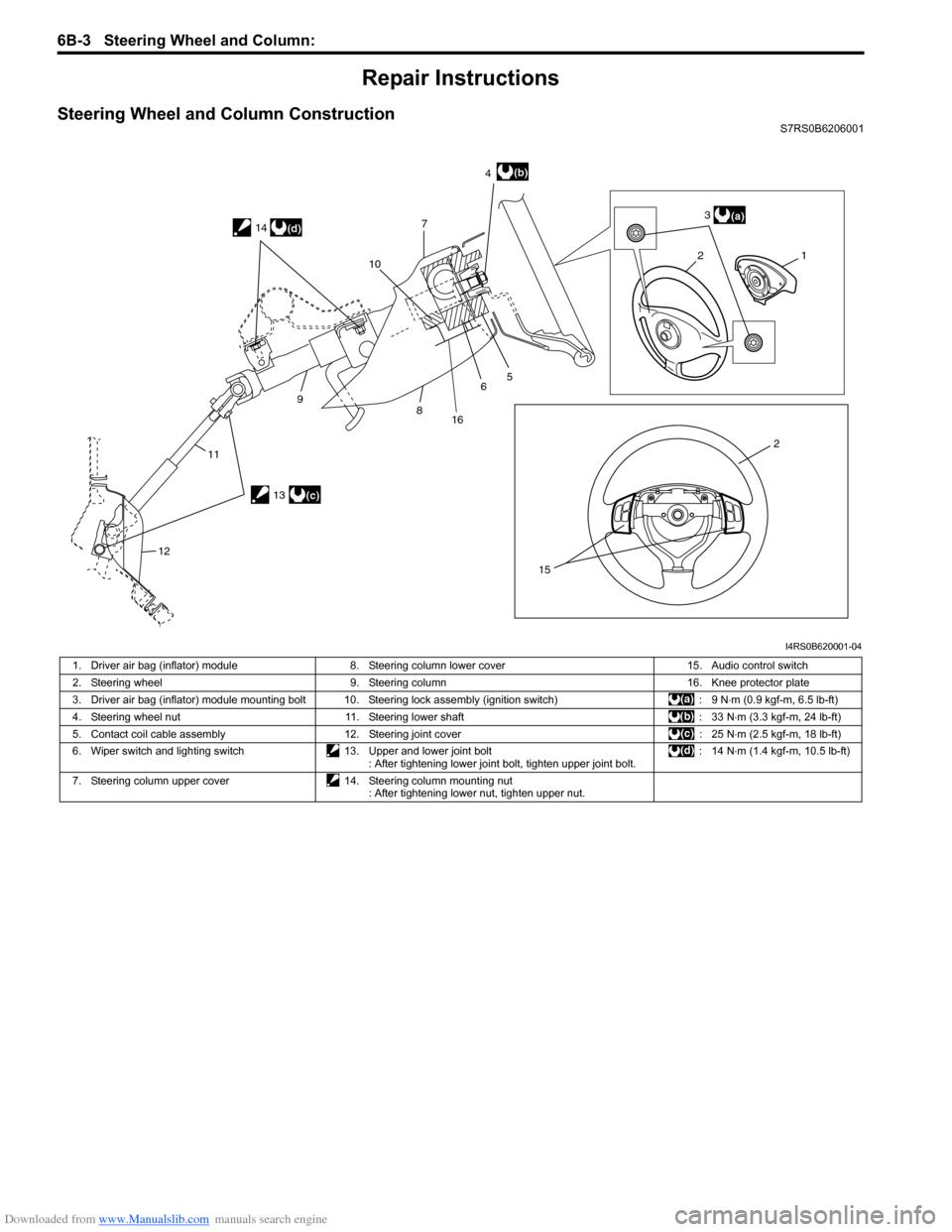 SUZUKI SWIFT 2008 2.G Service Workshop Manual (1496 Pages