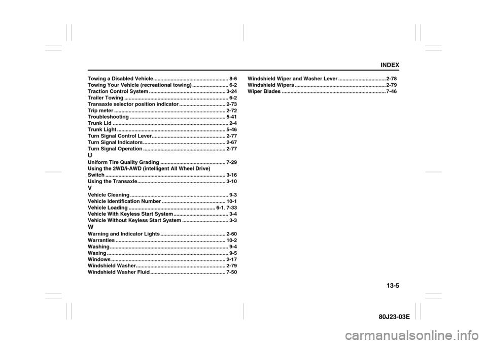 SUZUKI SX4 2010 1.G Owners Manual