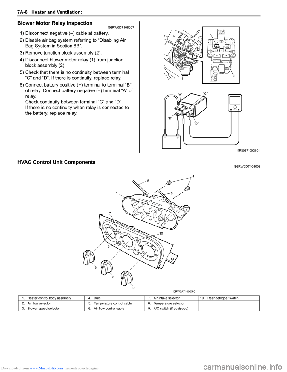 SUZUKI SX4 2006 1.G Service Workshop Manual