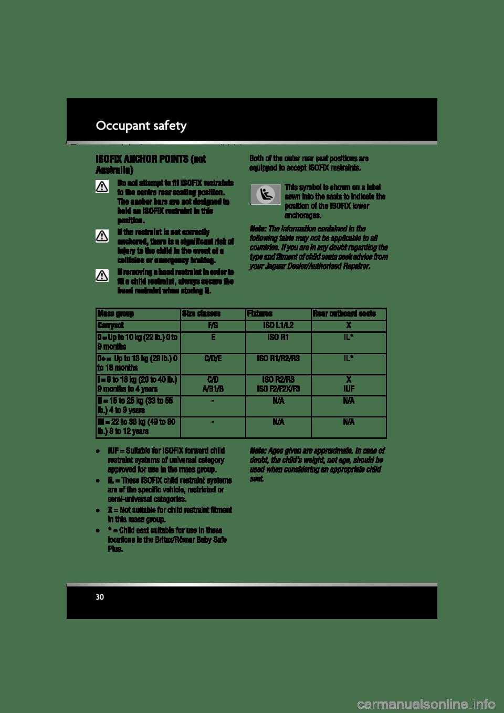 JAGUAR XF 2010 1.G Owner's Manual (225 Pages)