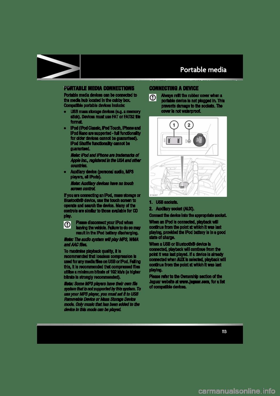 JAGUAR XF 2011 1.G Owners Manual