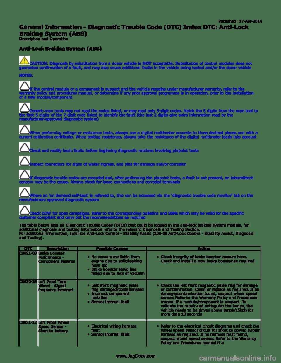 medium resolution of jaguar xfr 2010 1 g workshop manual page 120