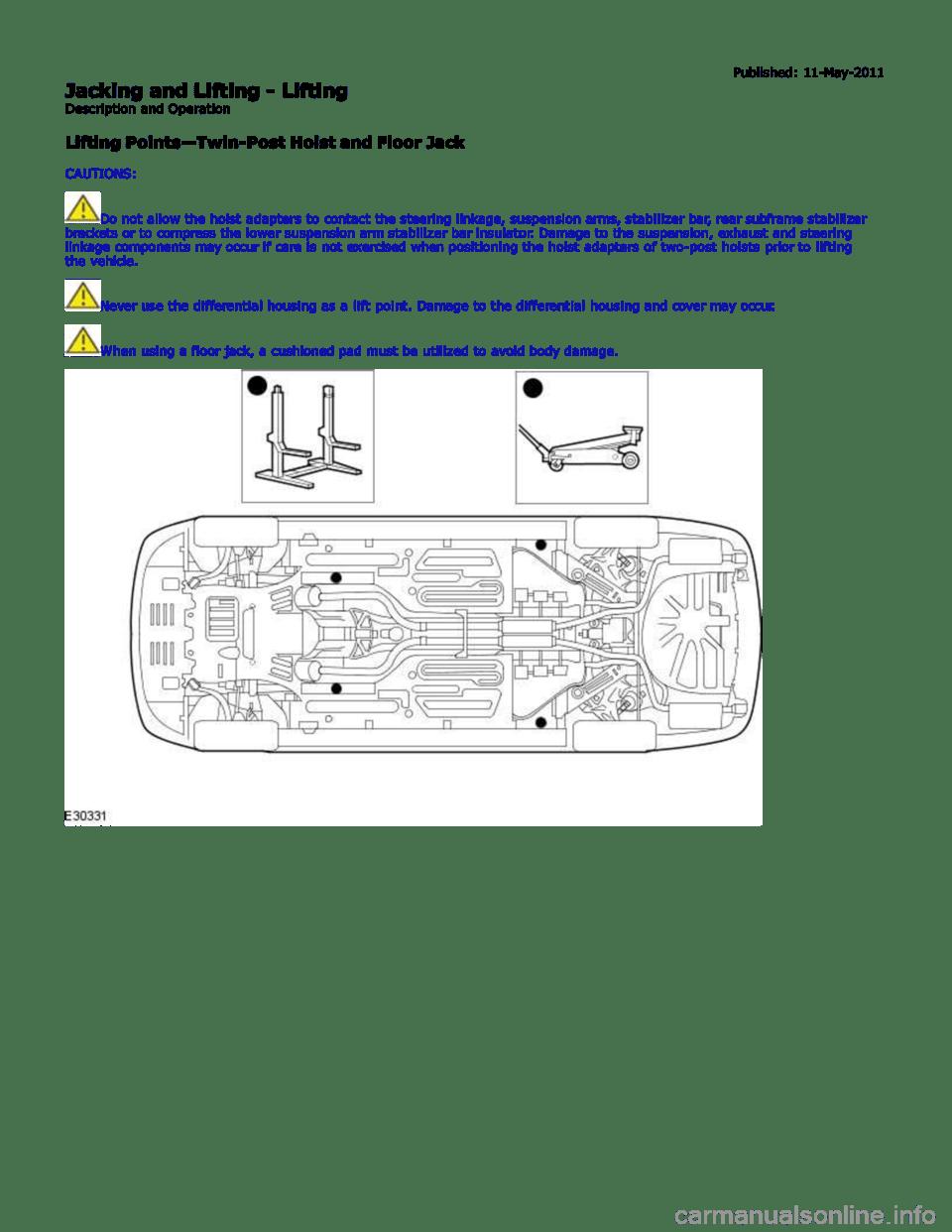 JAGUAR XFR 2010 1.G Workshop Manual