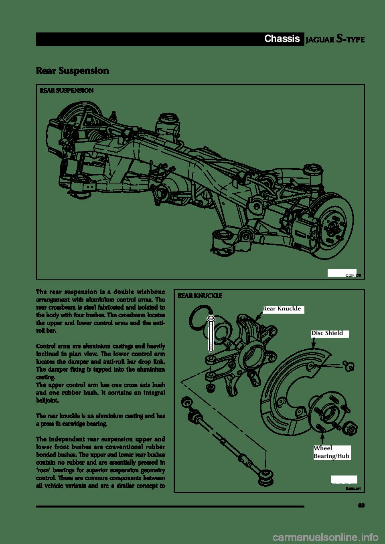 JAGUAR S TYPE 2005 1.G Technical Guide Update