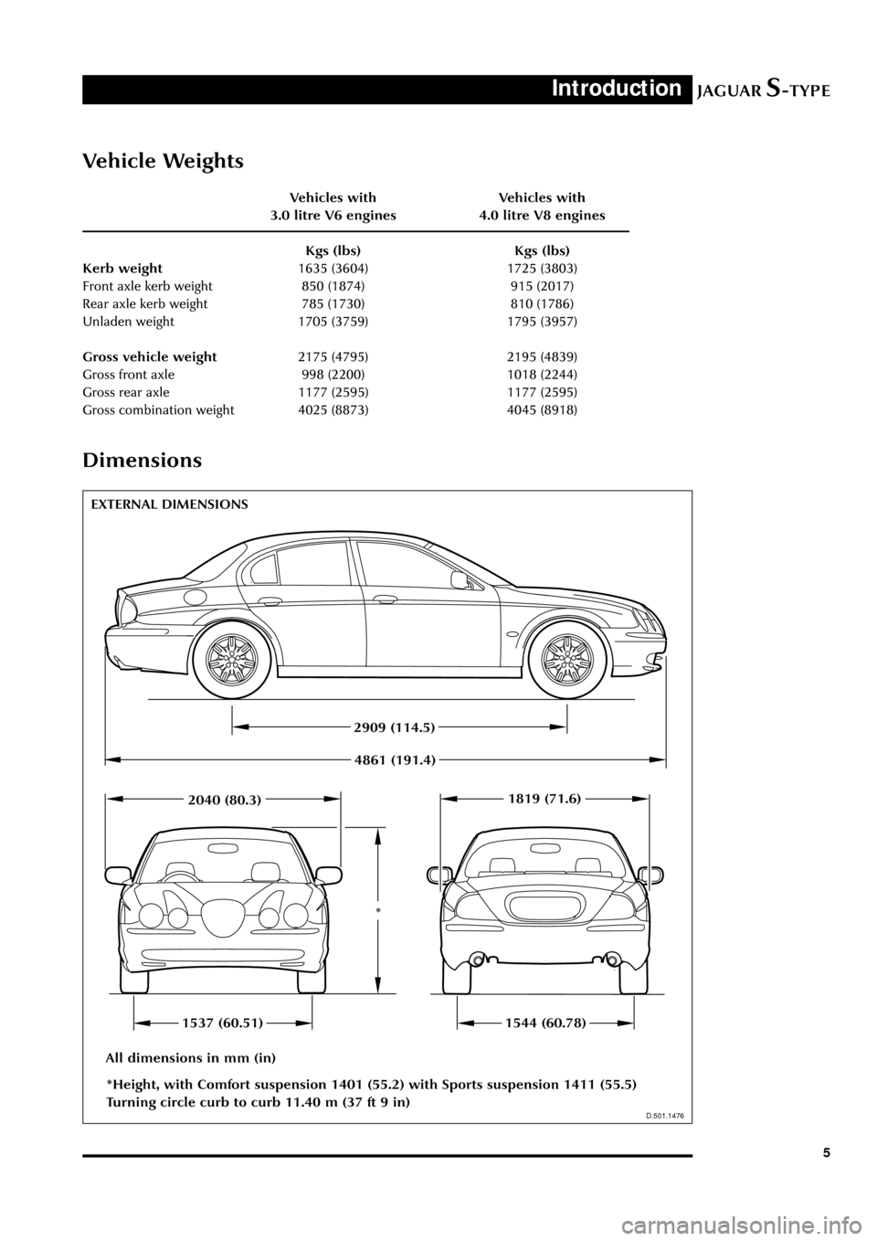 JAGUAR S TYPE 2005 1.G Technical Guide Update