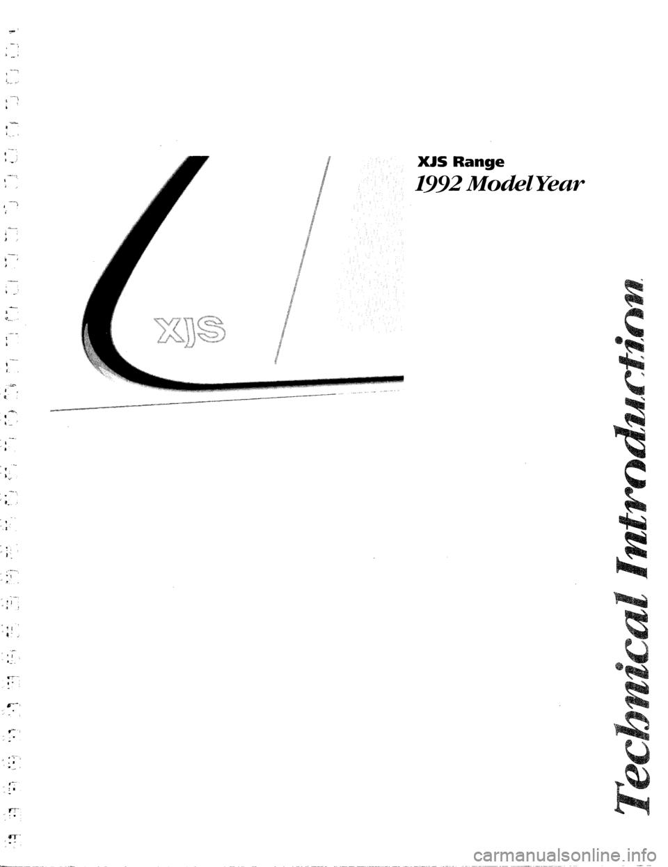 JAGUAR XJS 1992 1.G Technical Information Manual