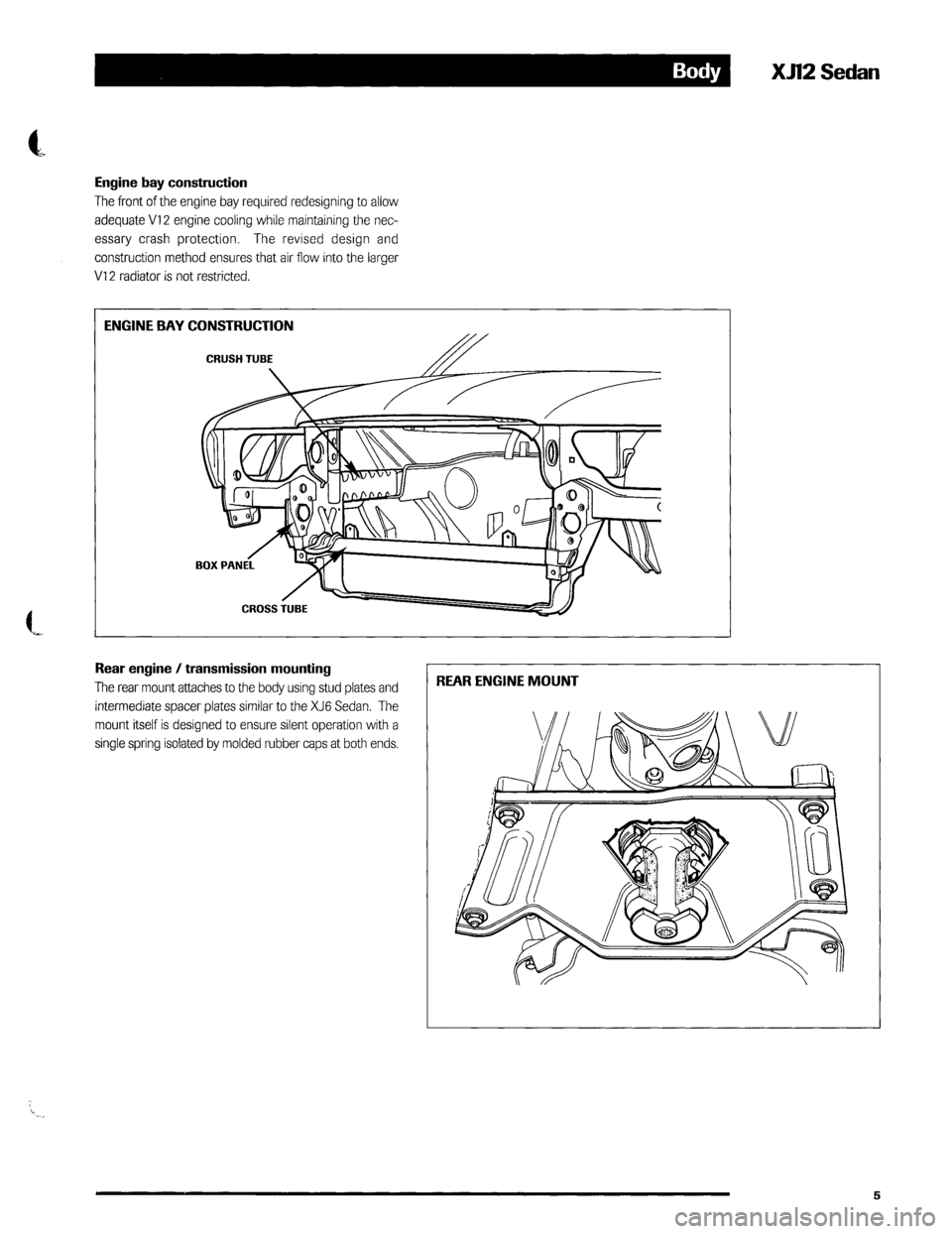 JAGUAR XJ12 1994 2.G Technical Information Manual