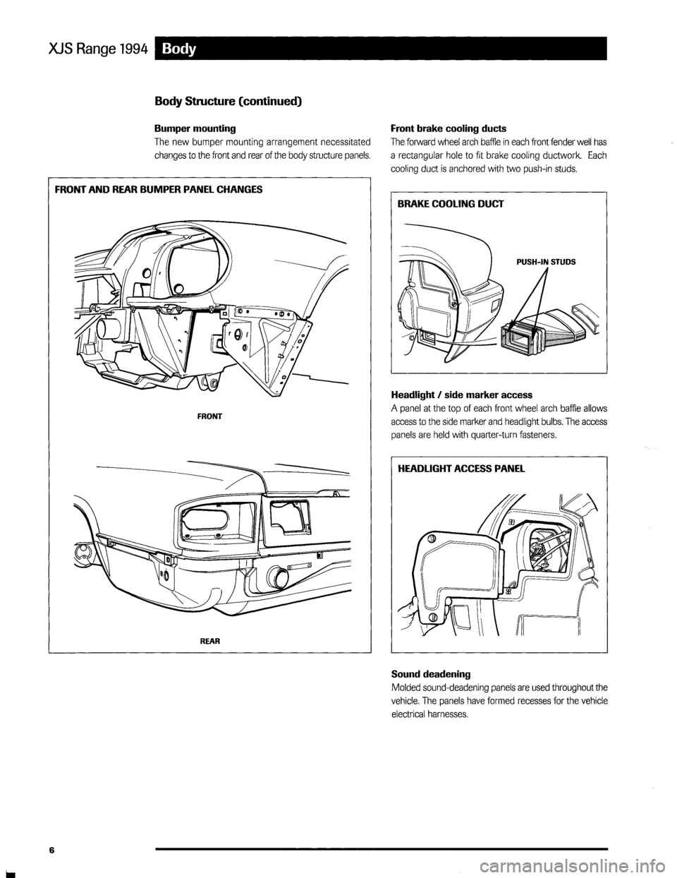 JAGUAR XJS 1994 2.G Update Manual