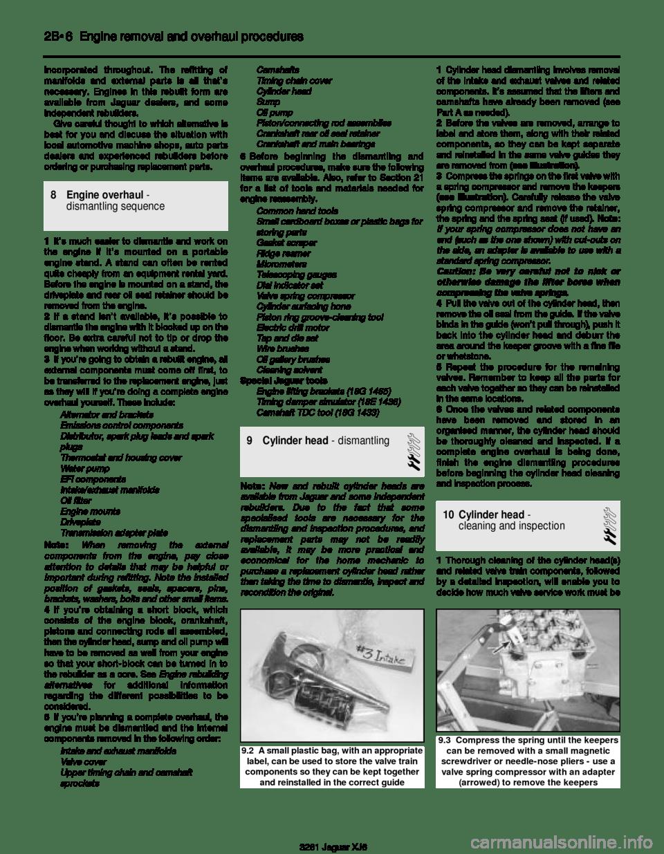 JAGUAR XJ6 1997 2.G Workshop Manual