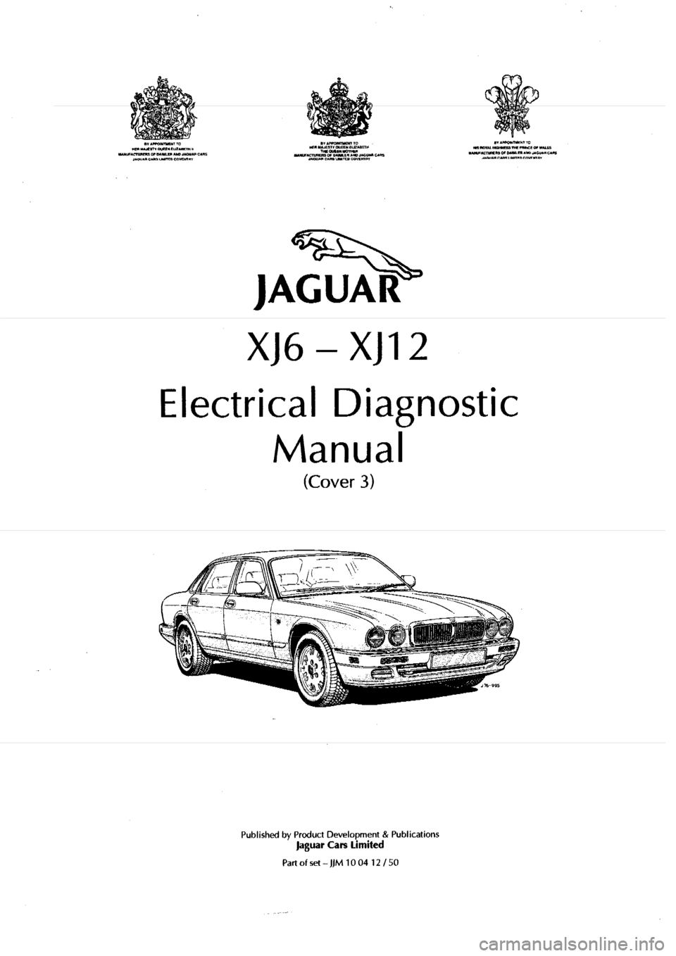 JAGUAR XJ6 1994 2.G Electrical Diagnostic Manual