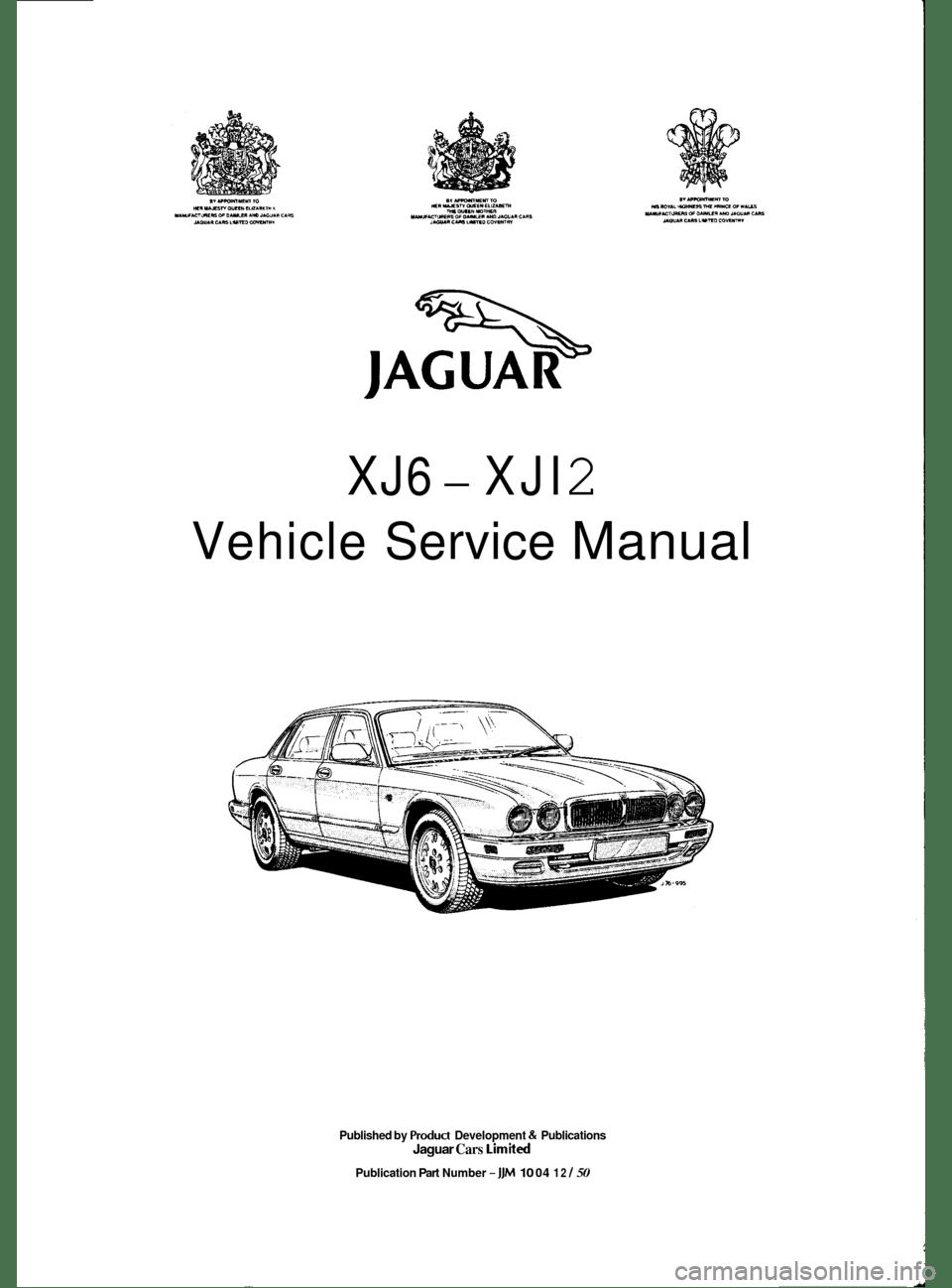 JAGUAR XJ6 1994 2.G Workshop Manual (521 Pages)
