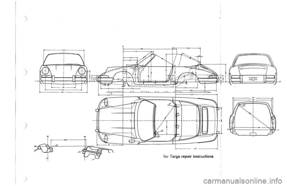 PORSCHE 911 1968 1.G Body Diagrams Workshop Manual