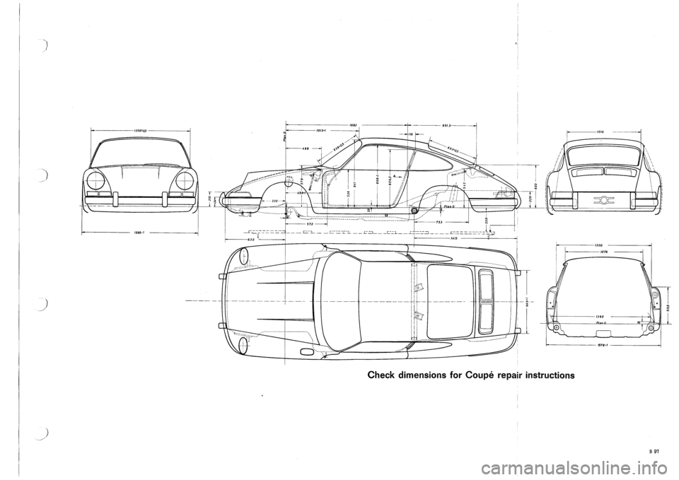 PORSCHE 911 1969 1.G Body Diagrams Workshop Manual