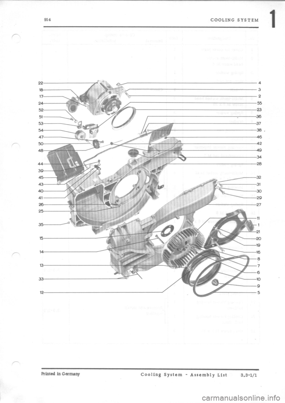 PORSCHE 914 1972 1.G Engine 2 Workshop Manual