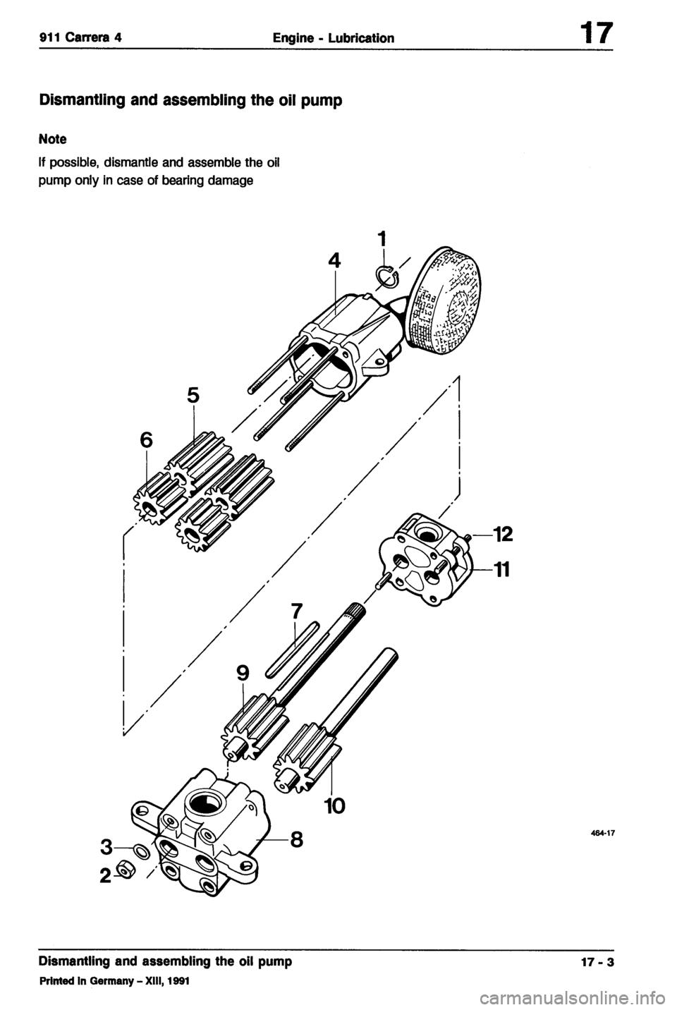 PORSCHE 964 1990 2.G Service Workshop Manual (254 Pages