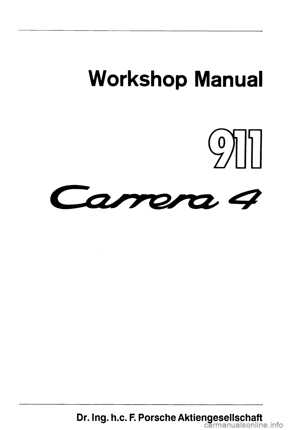 PORSCHE 964 1990 2.G Service Workshop Manual 4