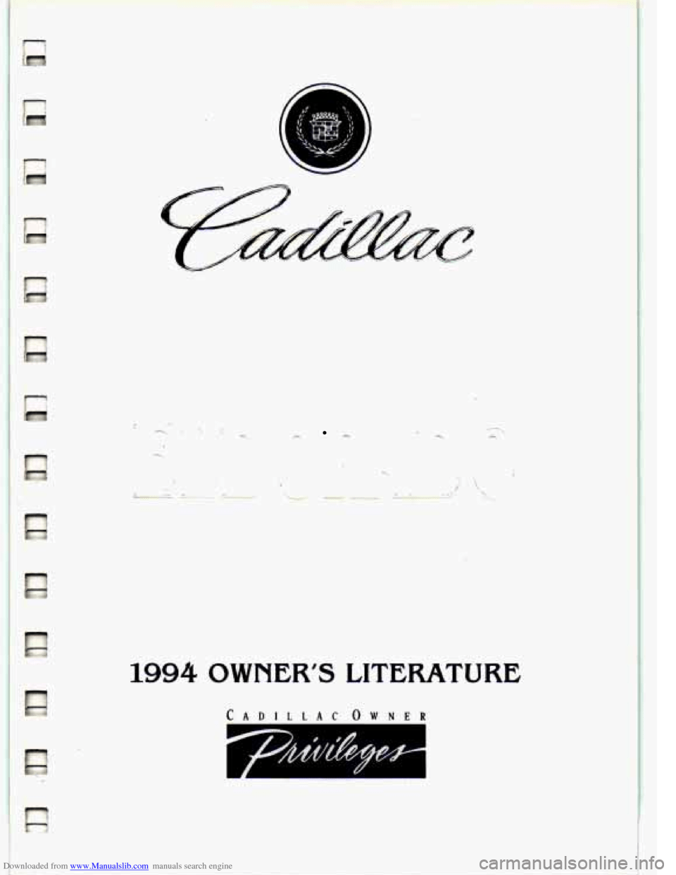 CADILLAC ELDORADO 1994 10.G Owners Manual