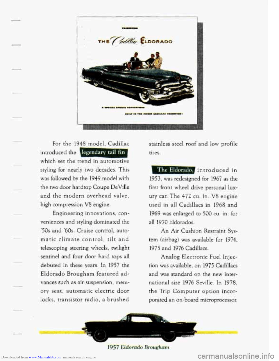 CADILLAC SEVILLE 1994 4.G Owners Manual