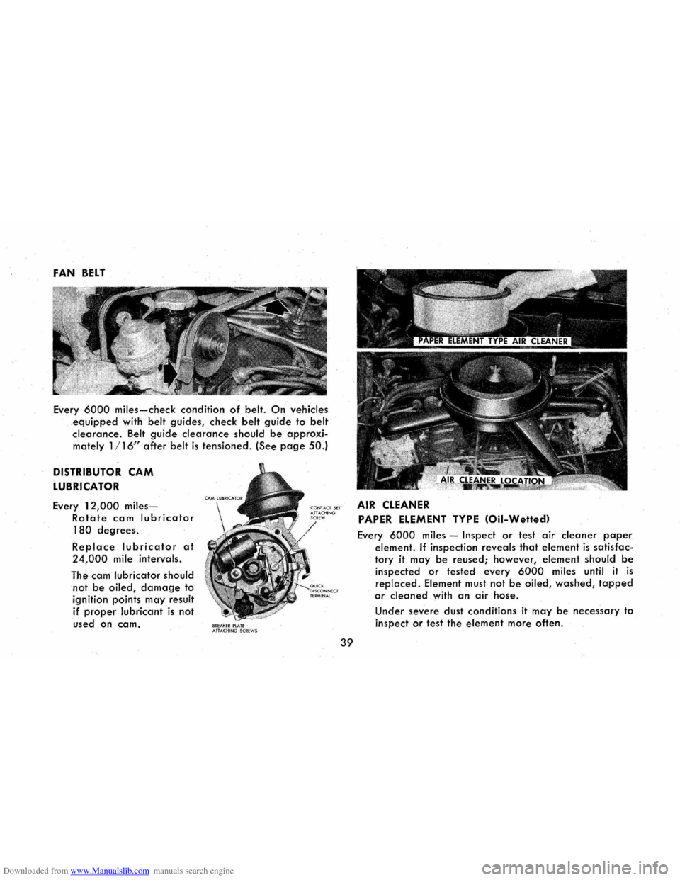 CHEVROLET CORVAIR 1965 2.G Owners Manual