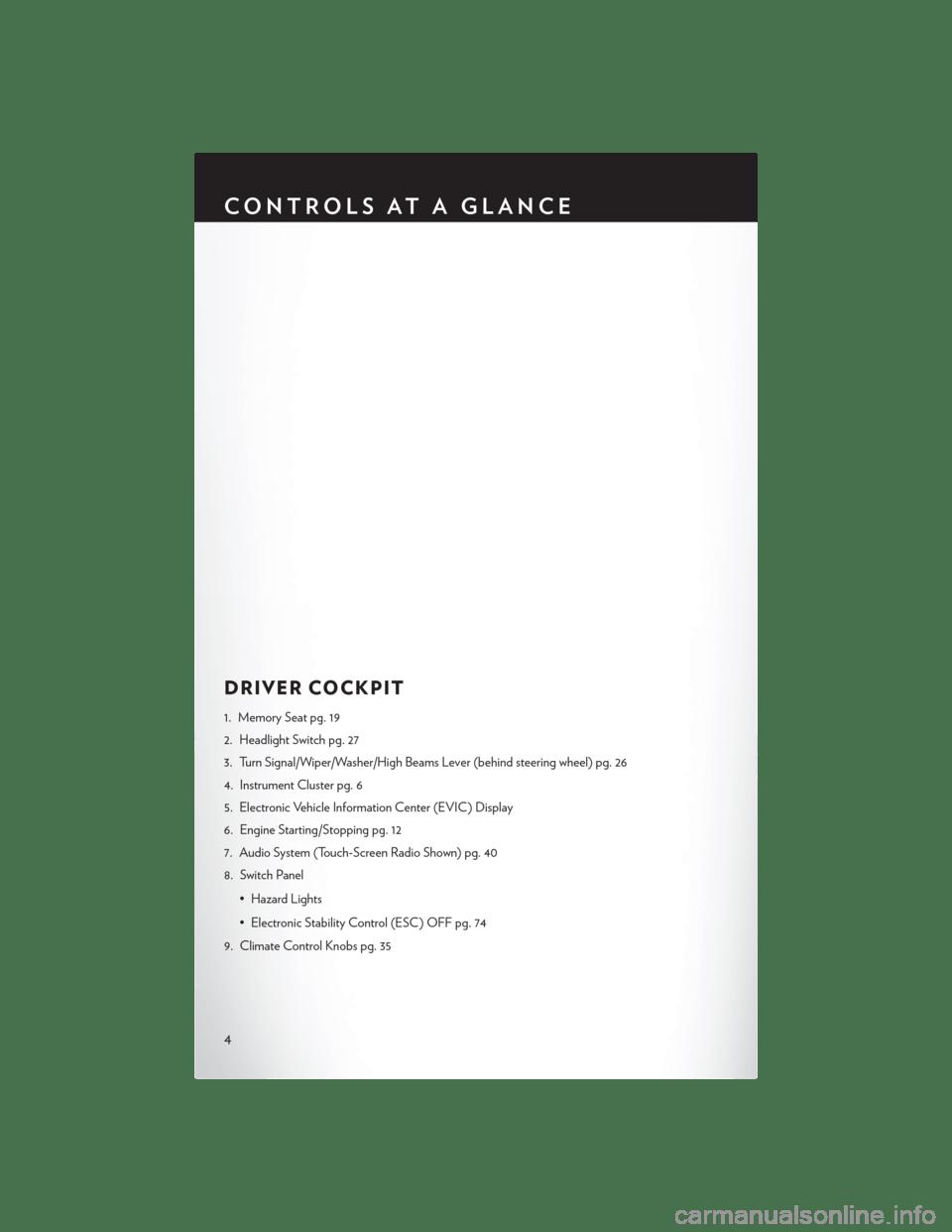 CHRYSLER 300 2014 2.G User Guide