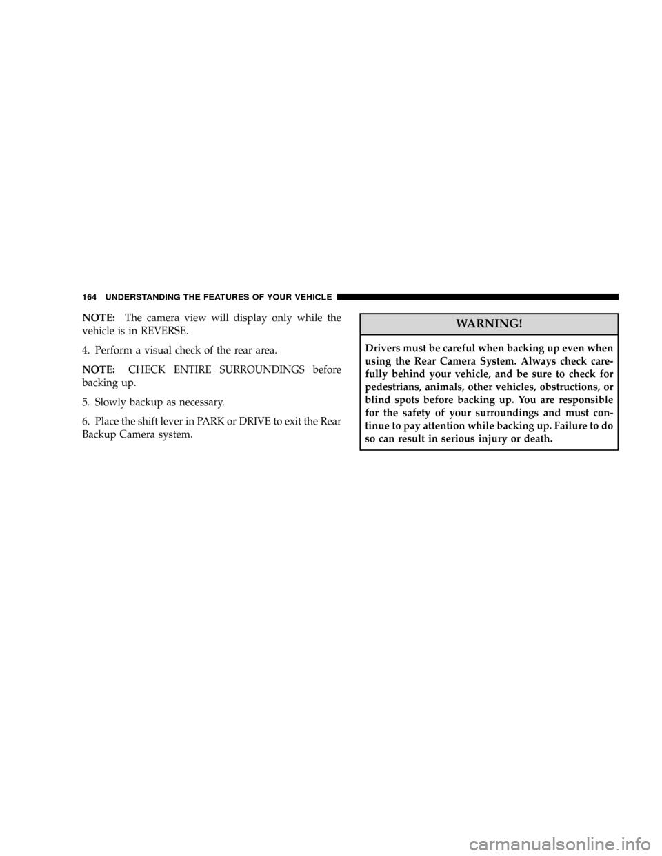 CHRYSLER ASPEN 2008 2.G Owners Manual