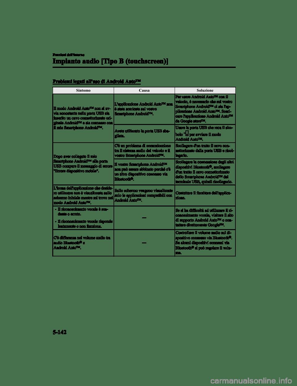 MAZDA MODEL CX-5 2019 Manuale del proprietario (in Italian