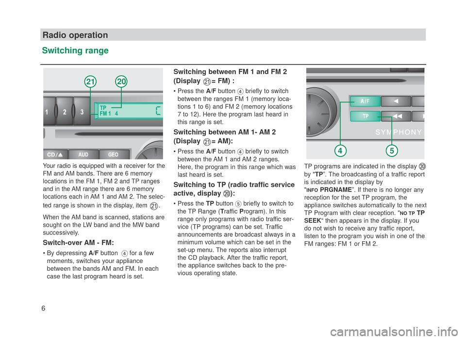 SKODA FABIA 2007 1.G / 6Y SymphonyCD Car Radio Manual (22