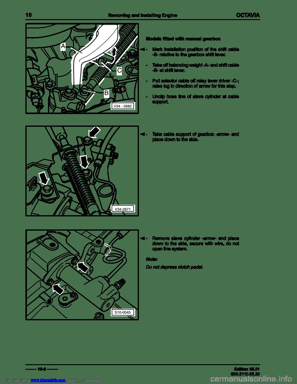 SKODA OCTAVIA 1999 1.G / (1U) 1.9TDi 66kw Engine Workshop