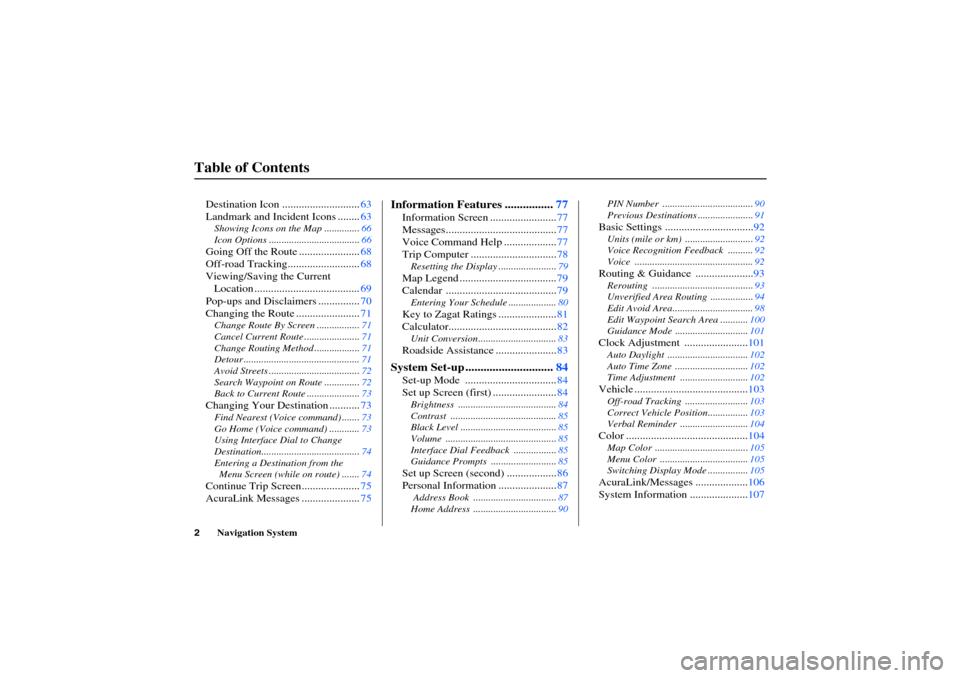 Acura RL 2006 Navigation Manual