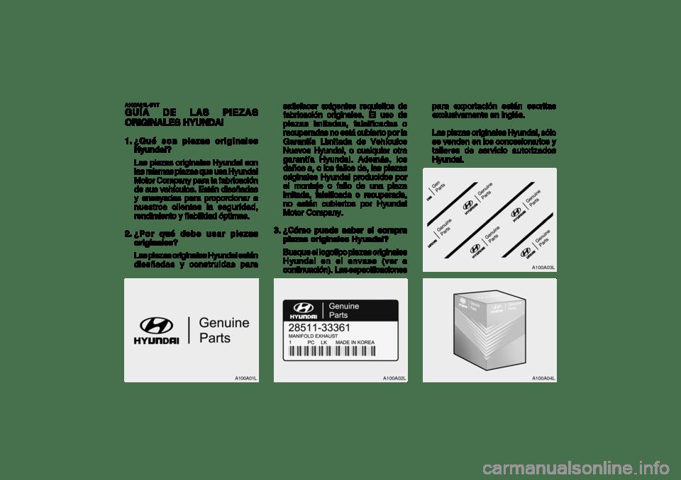 Hyundai Accent 2005 Manual del propietario (in Spanish