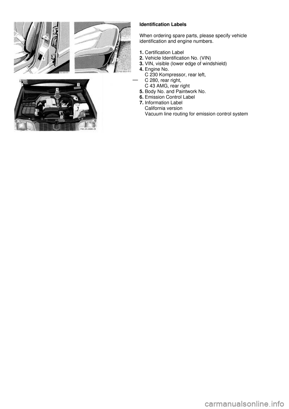 MERCEDES-BENZ C-Class 2000 W202 Owner's Manual