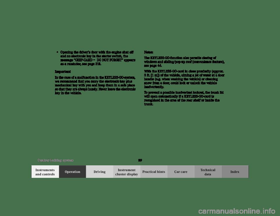 MERCEDES-BENZ CL600 2000 W140 Service Manual
