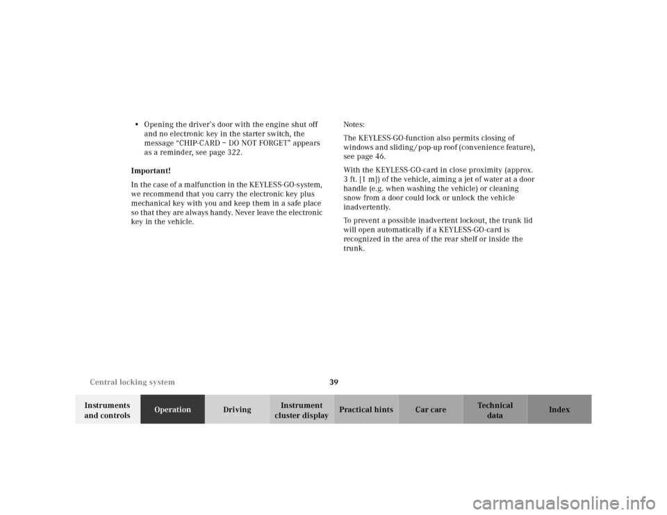 MERCEDES-BENZ S500 2000 W220 Service Manual