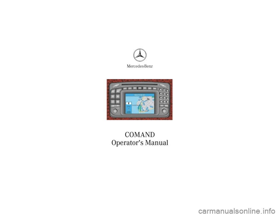 MERCEDES-BENZ C-Class 2001 W203 Comand Manual