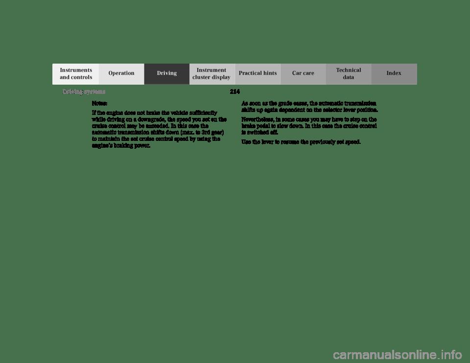 MERCEDES-BENZ E430 2001 W210 Owner's Manual