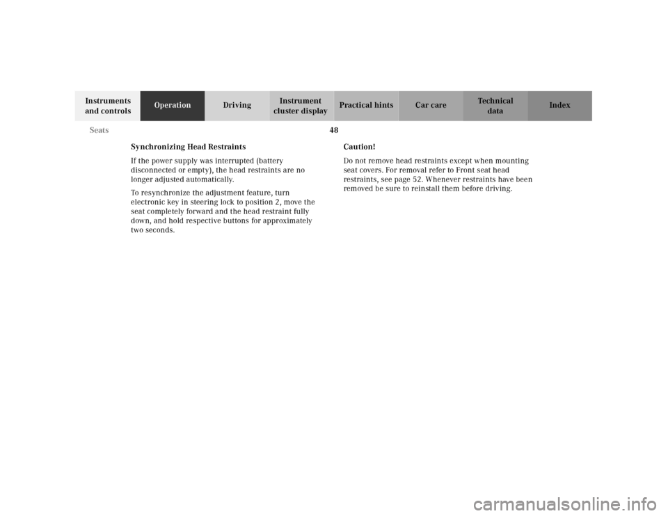 MERCEDES-BENZ E430 2001 W210 Manual PDF