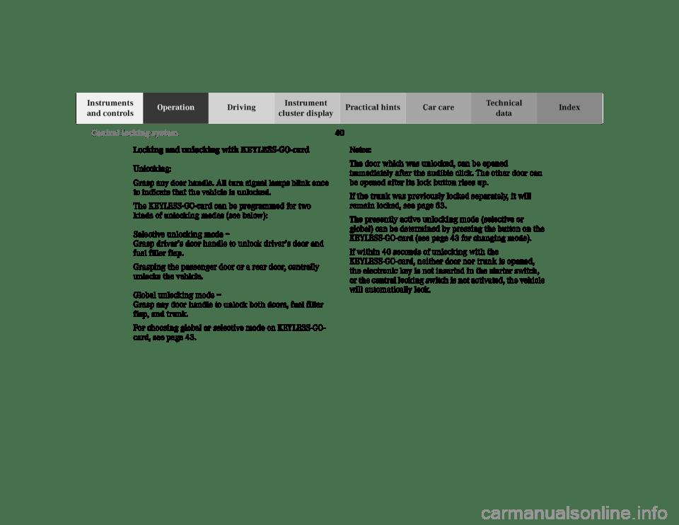 MERCEDES-BENZ E-Class 2001 W210 Service Manual