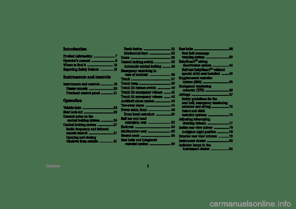 MERCEDES-BENZ CLK430 CABRIOLET 2002 A208 Owner's Manual