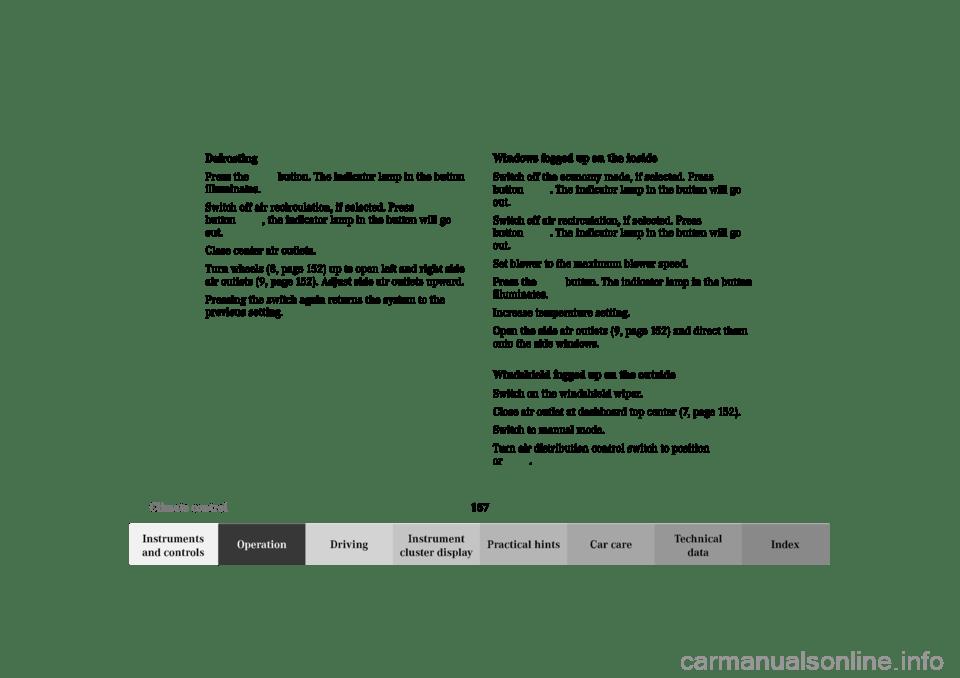 MERCEDES-BENZ C240 2002 W203 Owner's Manual