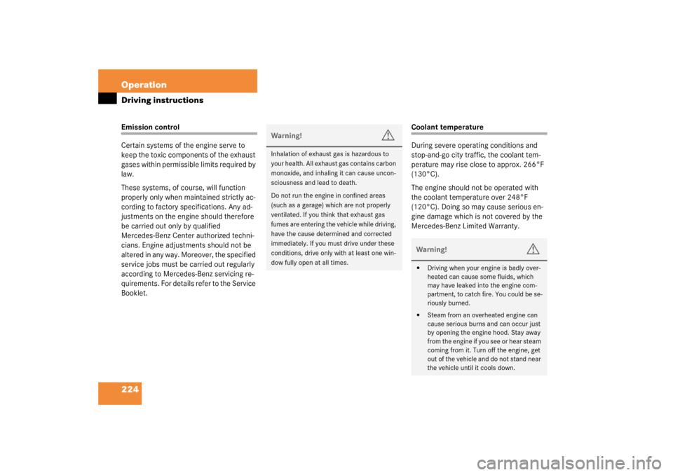 MERCEDES-BENZ SL500 2003 R230 Owner's Manual