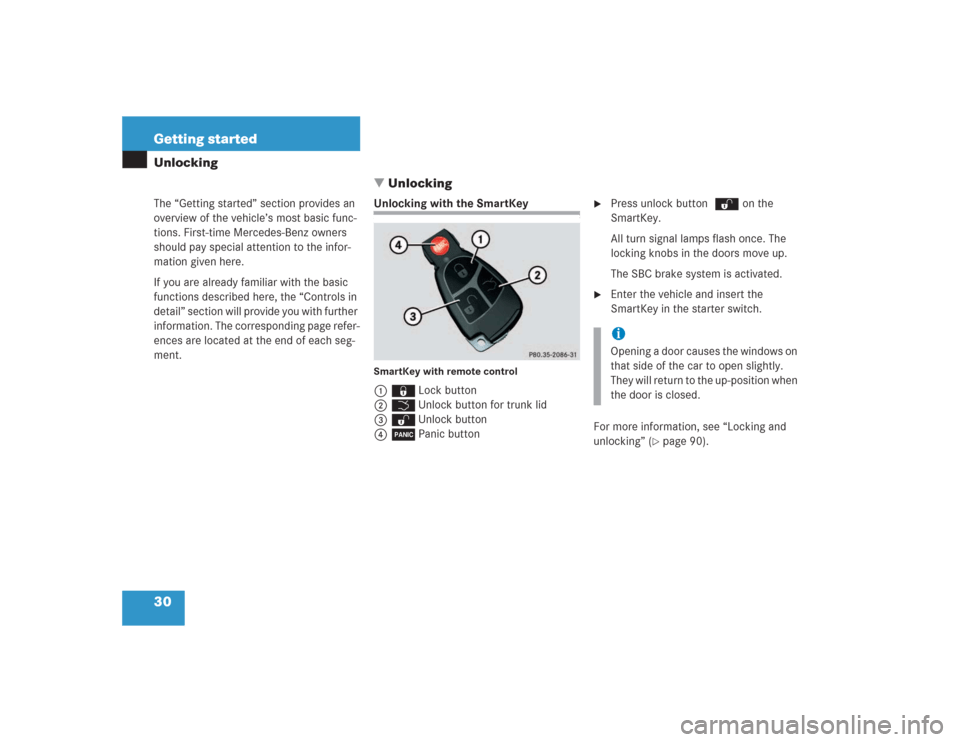 MERCEDES-BENZ SL500 2004 R230 Owner's Guide